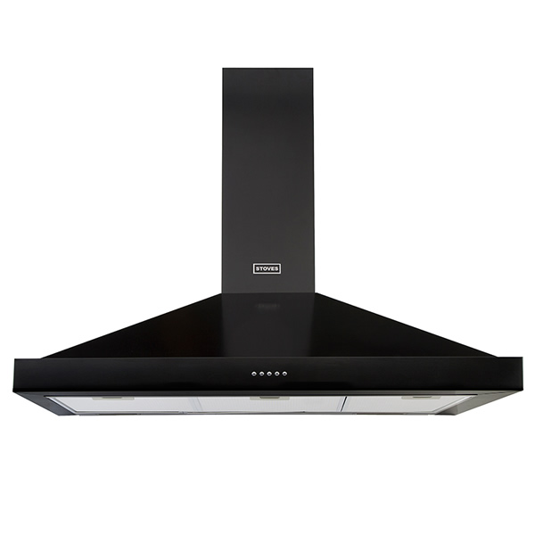 1000mm Chimney Cooker Hood 3-Speed Fan Black