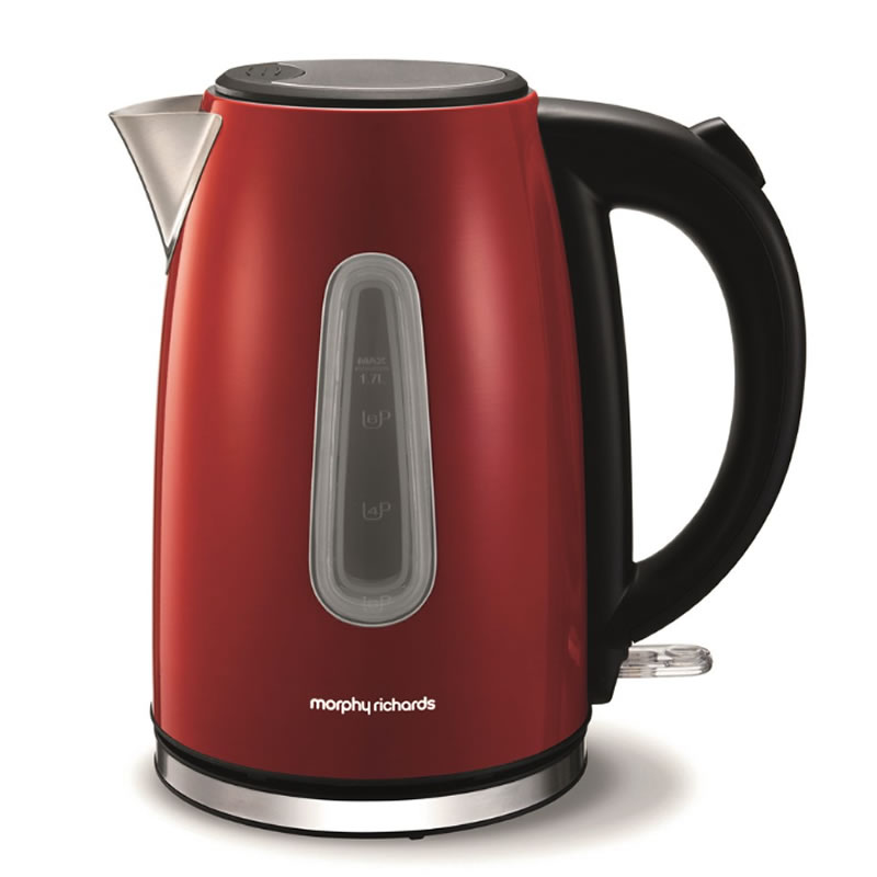 Image of 3Kw Jug Kettle 1.7litre Stainless Steel & Red