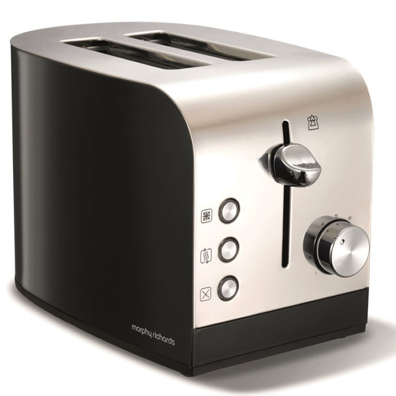 Image of 2-Slice 2-Slot Toaster Hi-Lift Stainless Steel & Black