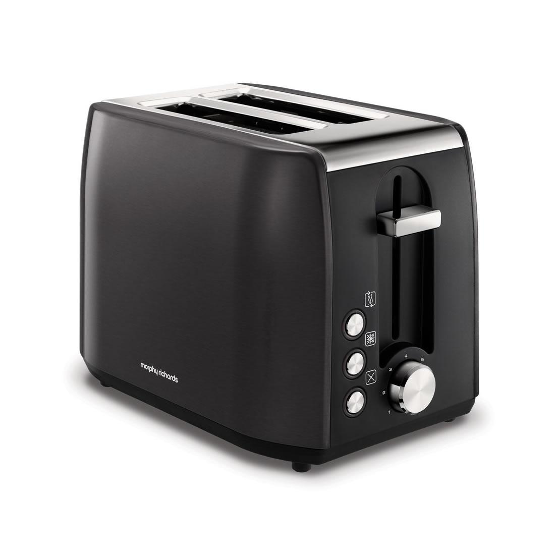 2-Slice 2-Slot Toaster Hi-Lift Black