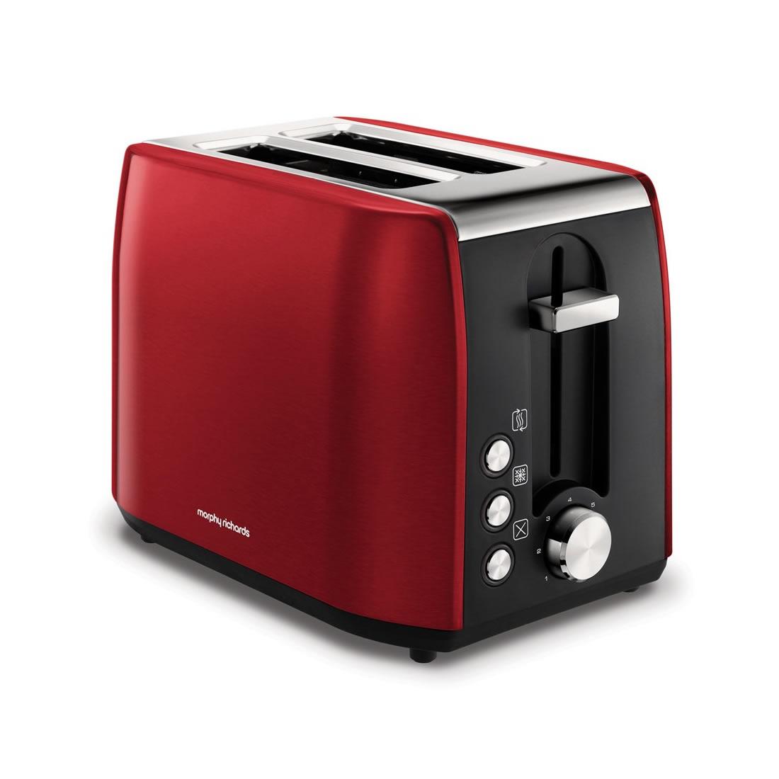 2-Slice 2-Slot Toaster Hi-Lift Red