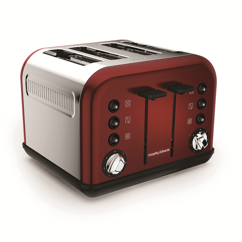 4-Slice 4-Slot Toaster Red