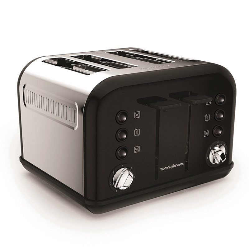 Image of 4-Slice 4-Slot Toaster Black