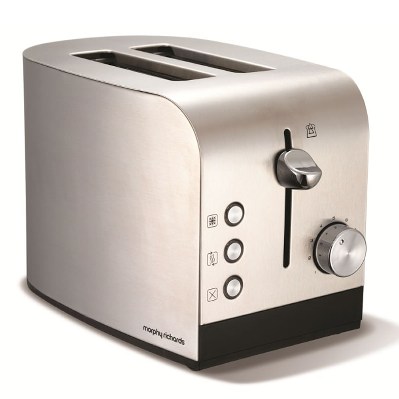Image of 2-Slice 2-Slot Toaster Brushed Steel Hi-Lift