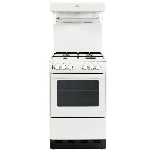 500mm Single Gas Cooker High Level Grill White