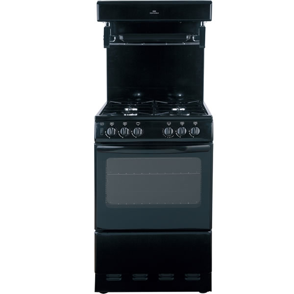 550mm Single Gas Cooker High Level Grill Black