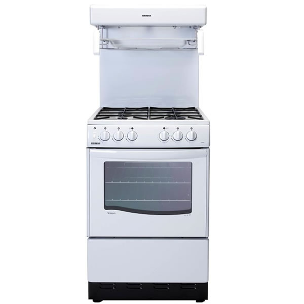 550mm Single Gas Cooker High Level Grill White