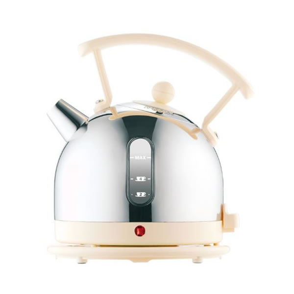 Cordless Kettle 1.7litre 3.0Kw S/Steel & Cream