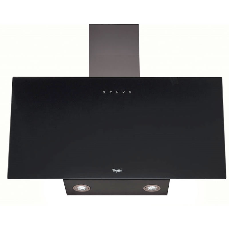 800mm Built-in Cooker Hood 3-Speed Twin Lights Black