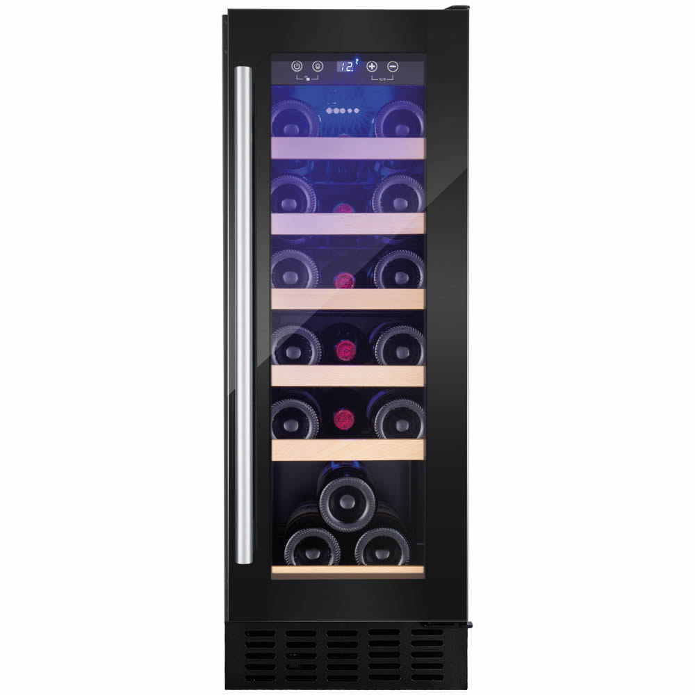 19 Bottle Capacity Built-in Wine Cooler Black