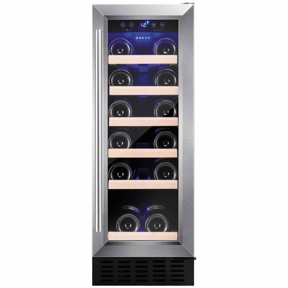19 Bottle Capacity Built-in Wine Cooler S/Steel Door
