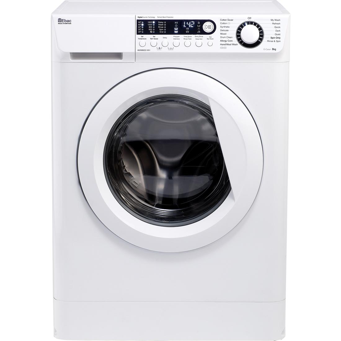 1600rpm Washing Machine 8kg Load Class A+++