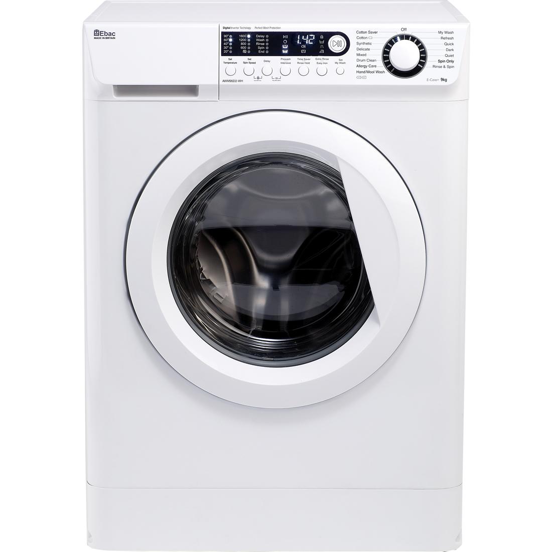 1600rpm Washing Machine 9kg Load Class A+++