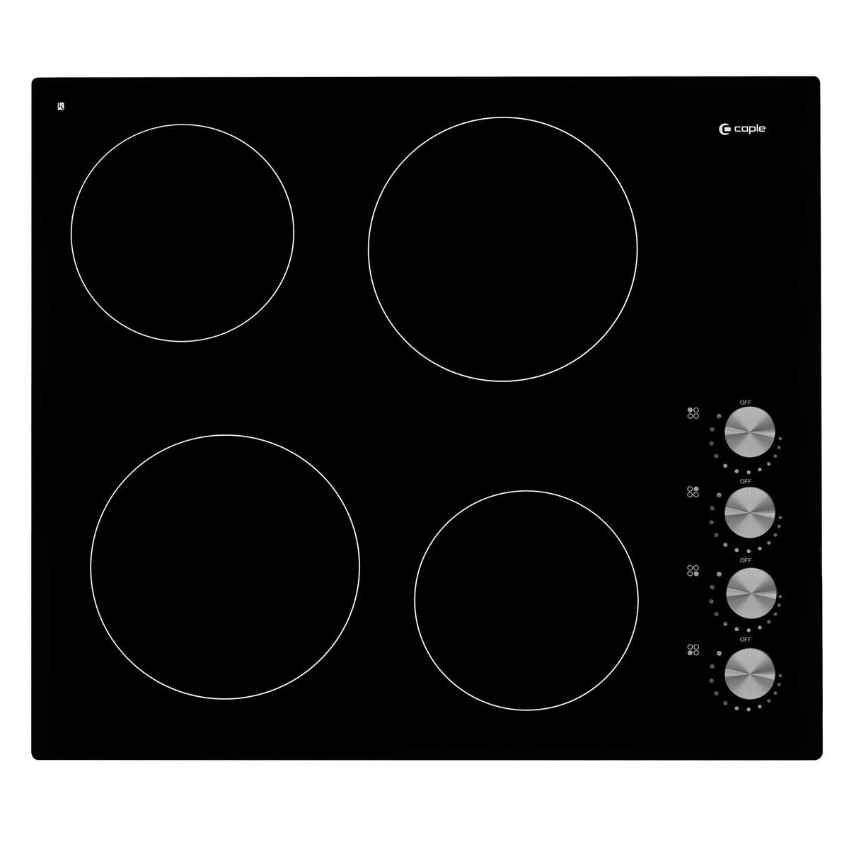 600mm Ceramic Hob 4 x Cook Zones Frameless