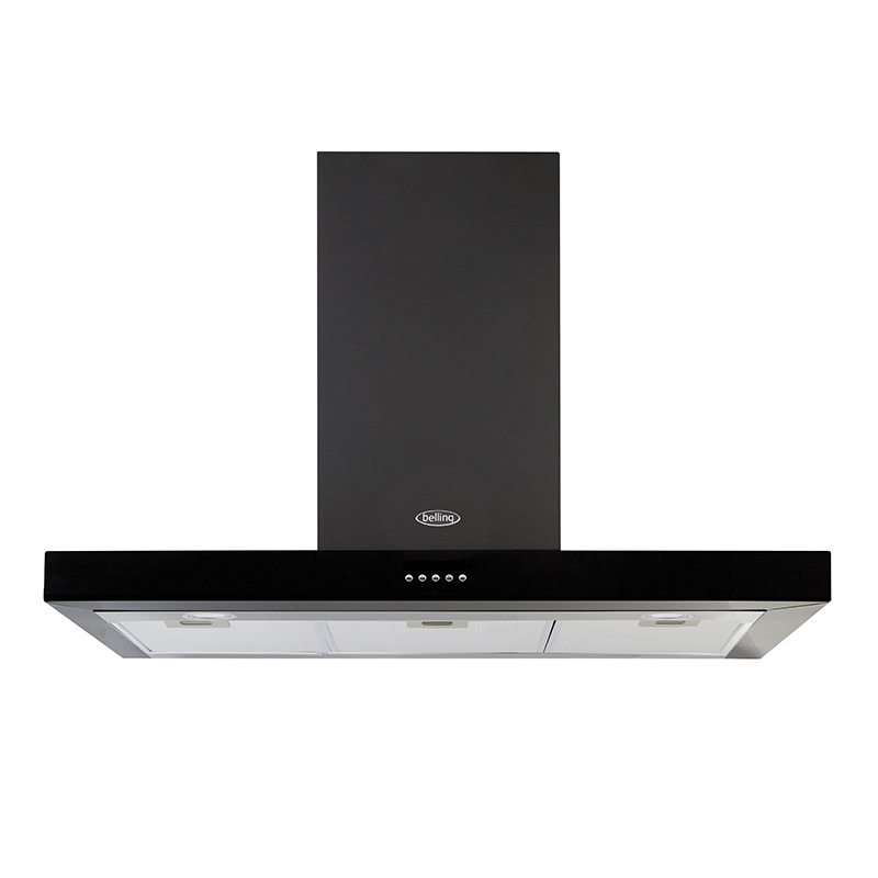 1000mm Cooker Hood 3-Speed Twin Lights Black