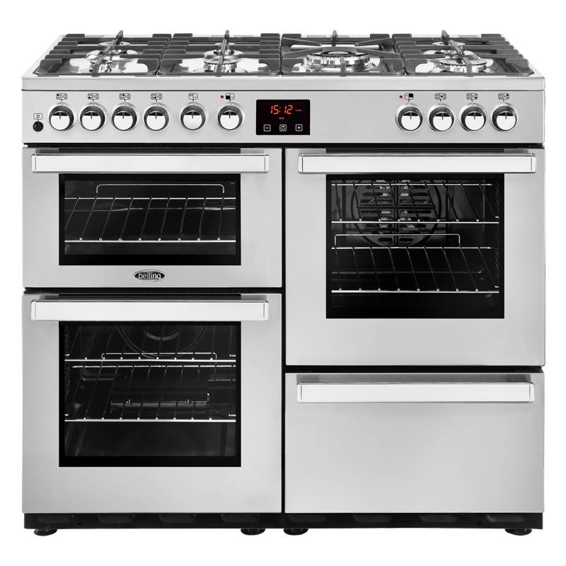 1000mm Dual Fuel Range Cooker 7 Burners Inc WOK Pro S/S