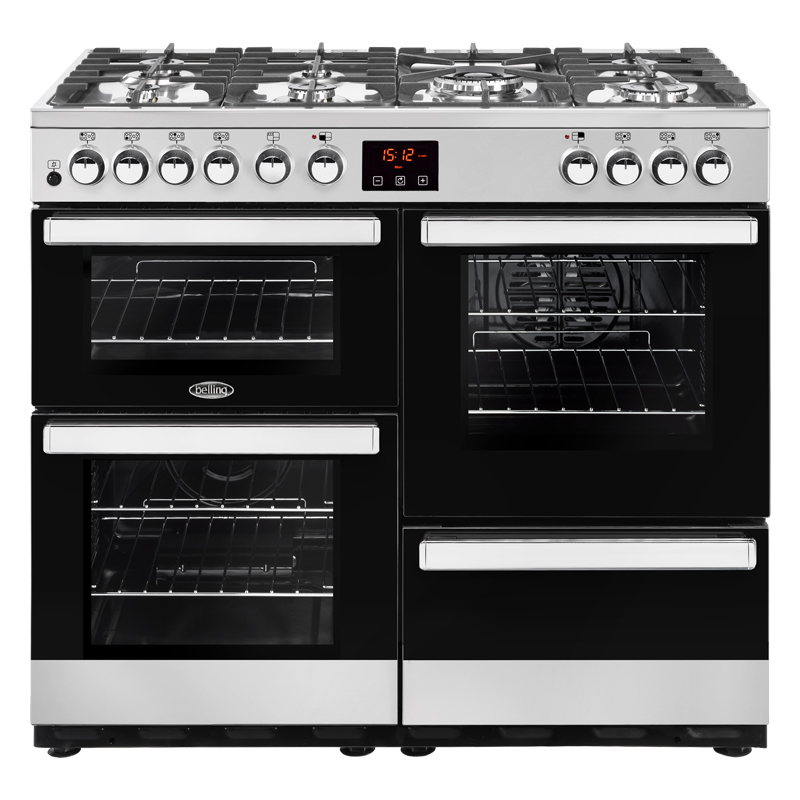 Image of 1000mm Dual Fuel Range Cooker 7 Burners Inc WOK S/Steel