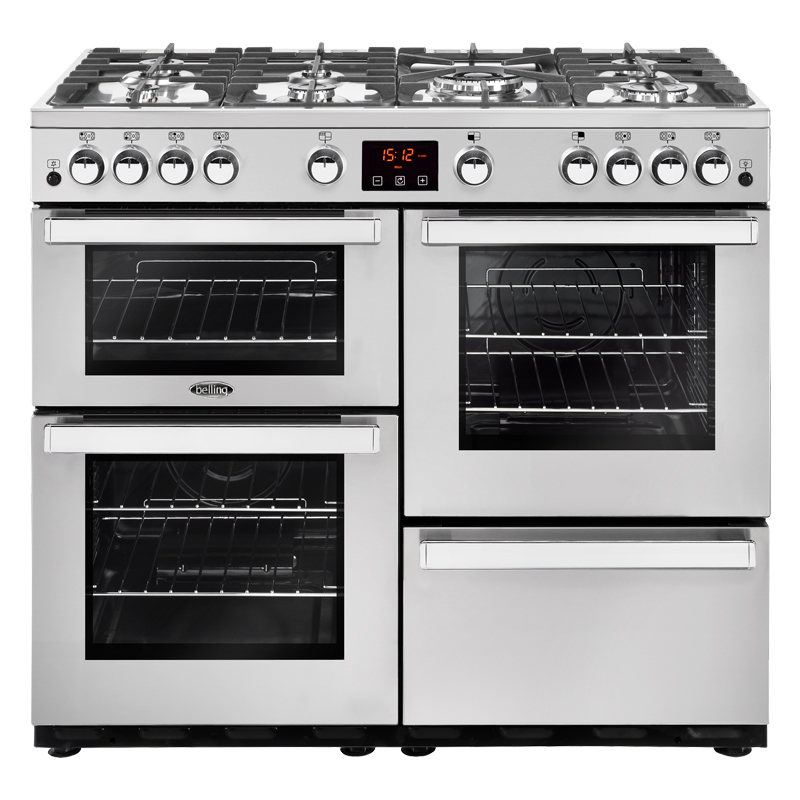 Compare retail prices of 1000mm Gas Range Cooker 7 Burners Inc WOK S/Steel to get the best deal online