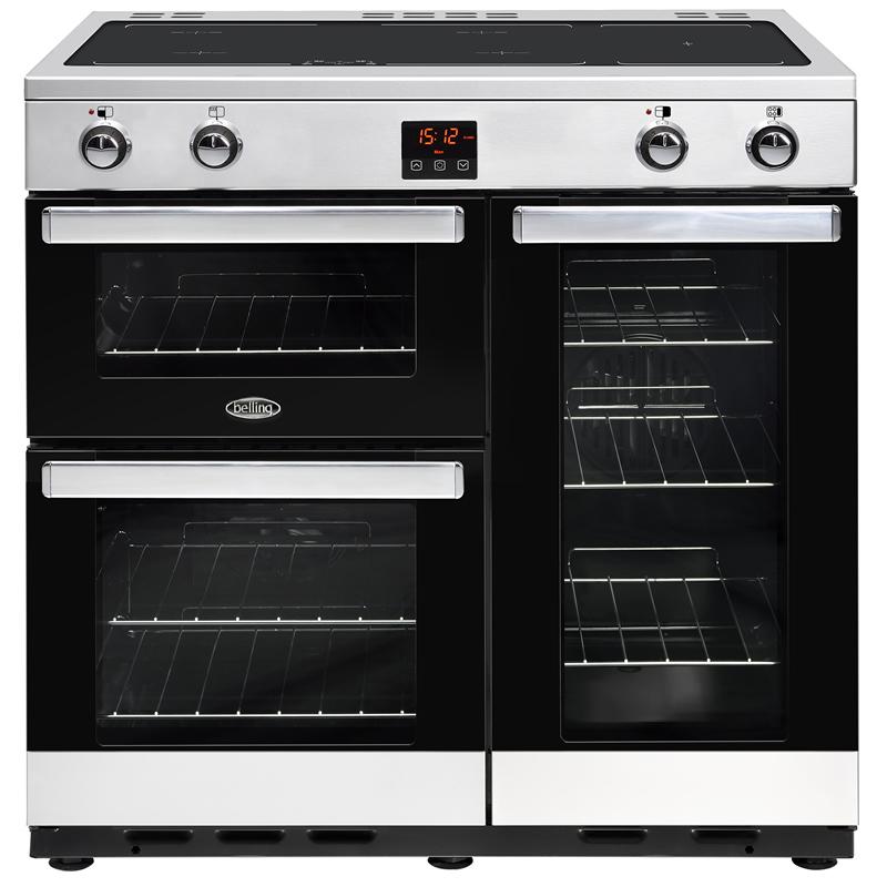 1000mm Dual Fuel Range Cooker 7 Burners Inc WOK Black