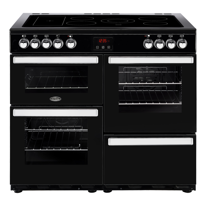 Compare retail prices of 1000mm Electric Range Cooker 5-Zone Ceramic Hob Black to get the best deal online