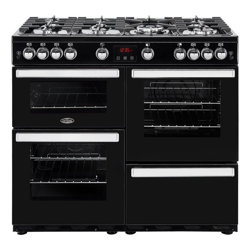 Compare retail prices of 1000mm Gas Range Cooker 7 Burners Inc WOK Black to get the best deal online