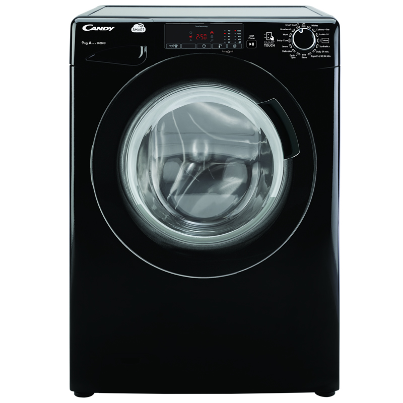 1400rpm Washing Machine 9kg Load Class A+++ Black