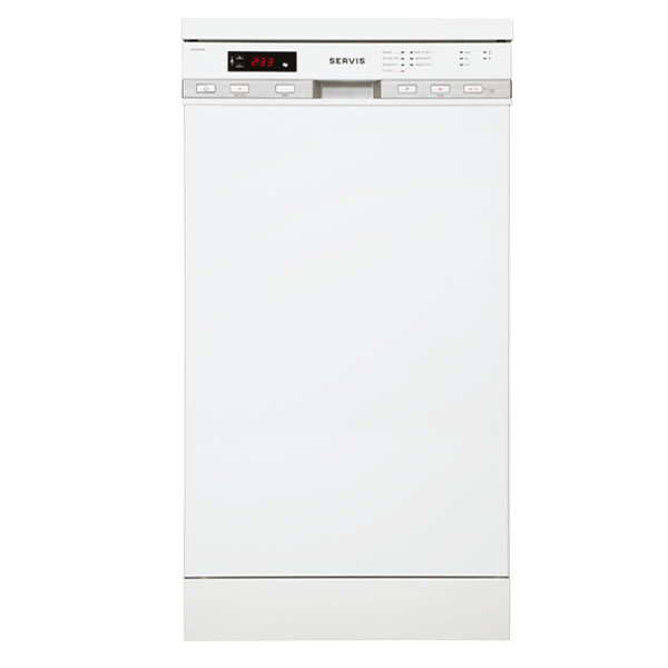 10-Place Dishwasher 7 Progs Delay Timer Class A White