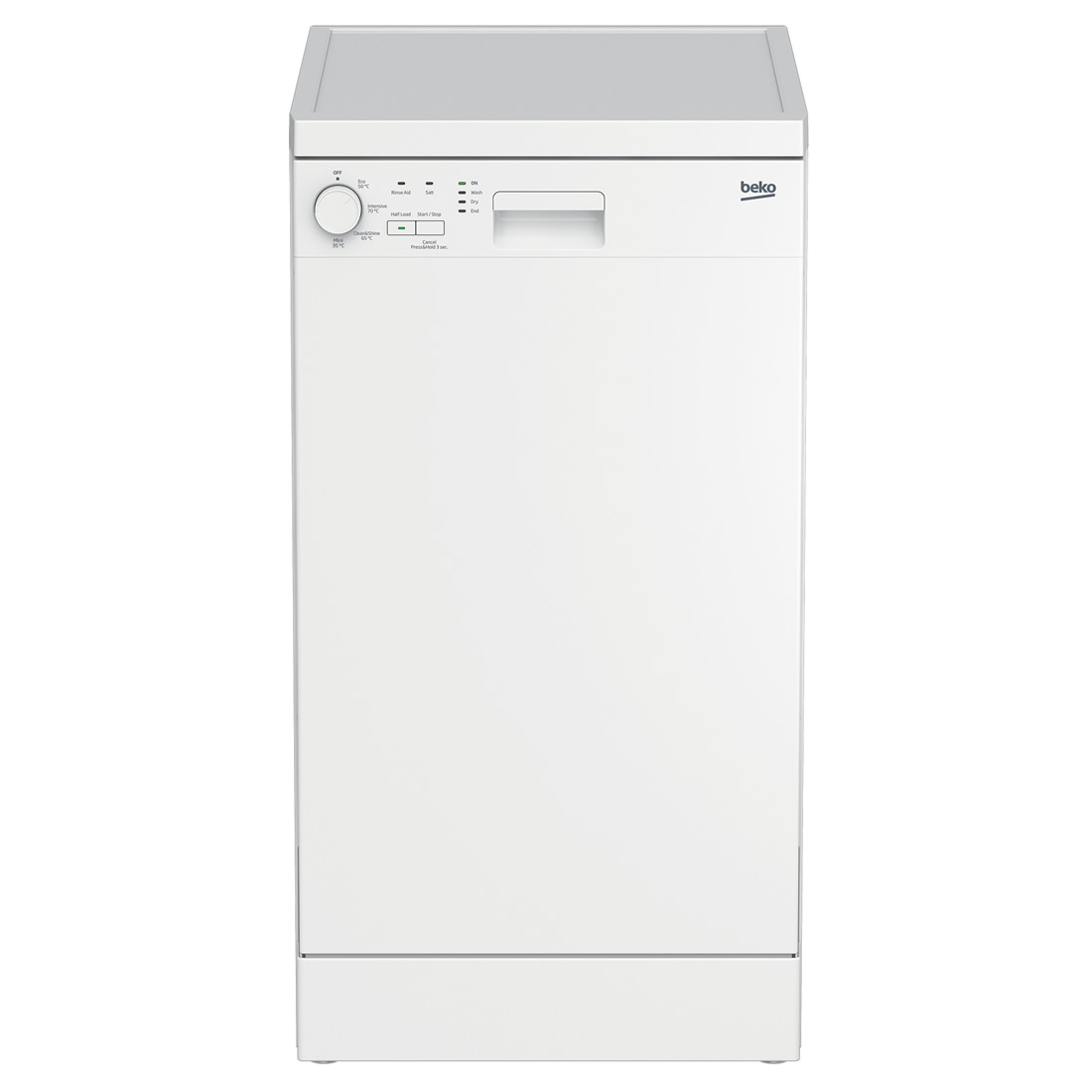 Image of 10-Place Slimline Dishwasher 4 Progs Class A+ White
