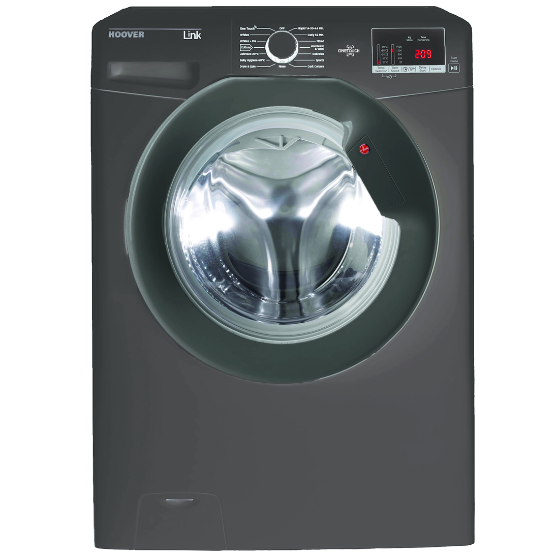 1400rpm Washing Machine 8kg Load Class A+++ Graphite