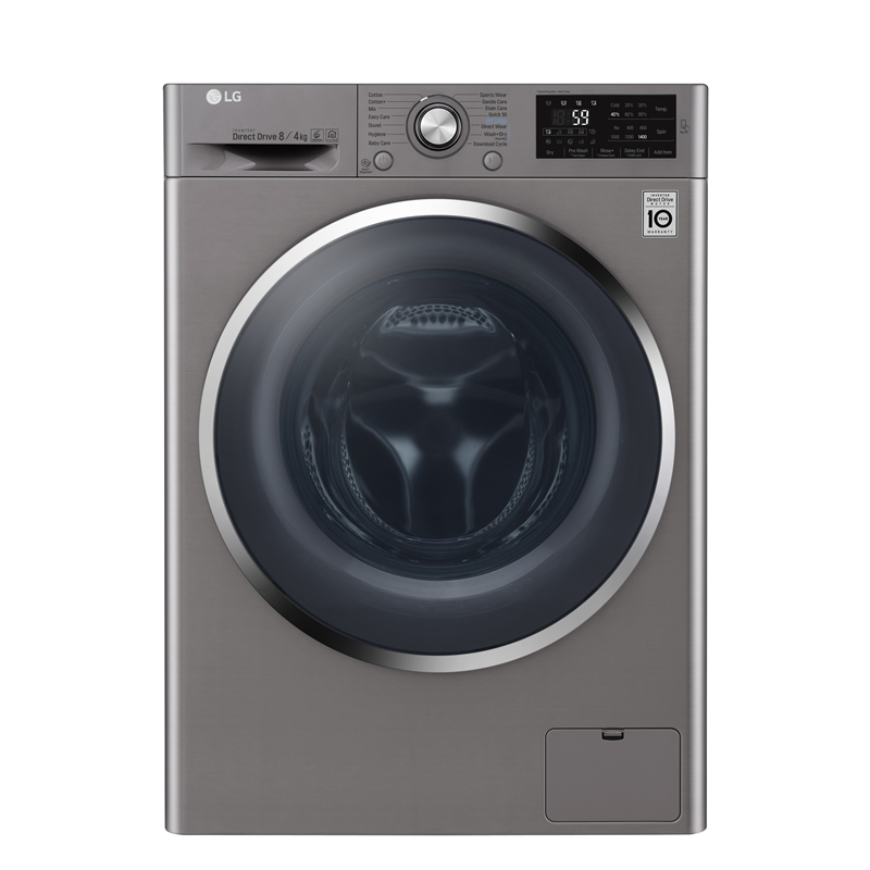 1400rpm DD Washer Dryer 8kg/4kg Load Class A Steel