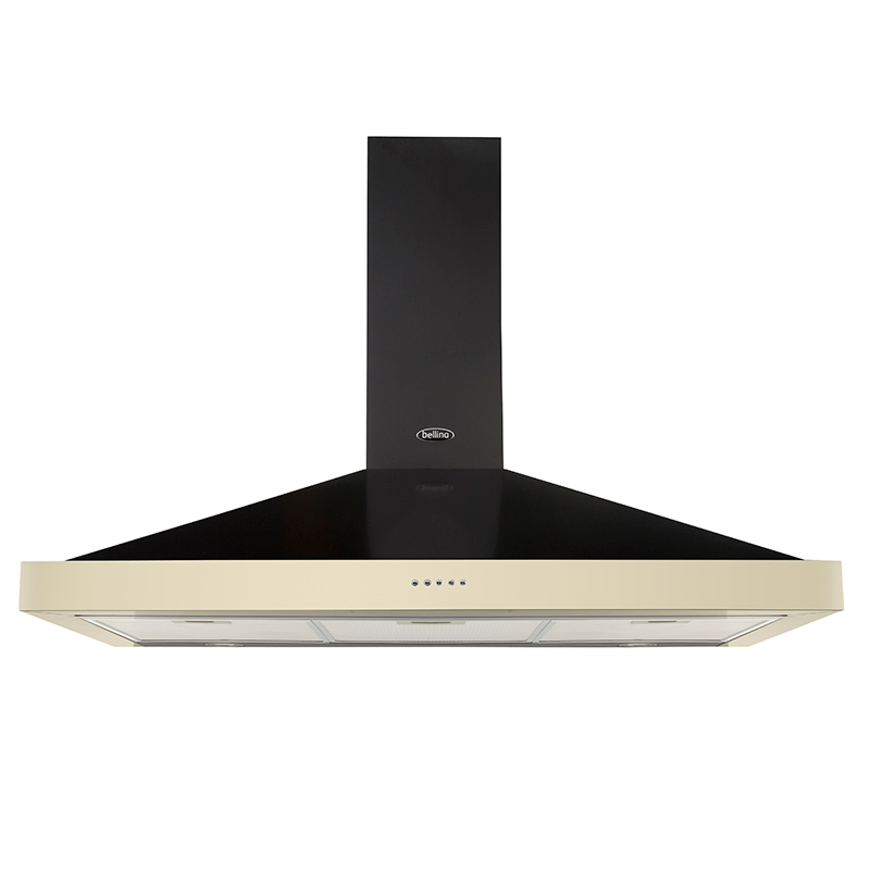 1000mm Cooker Hood 3-Speed Twin Lights Cream