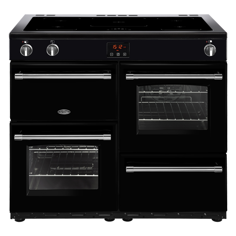 Compare retail prices of 1000mm Electric Range Cooker 5-Zone Induction Hob Black to get the best deal online
