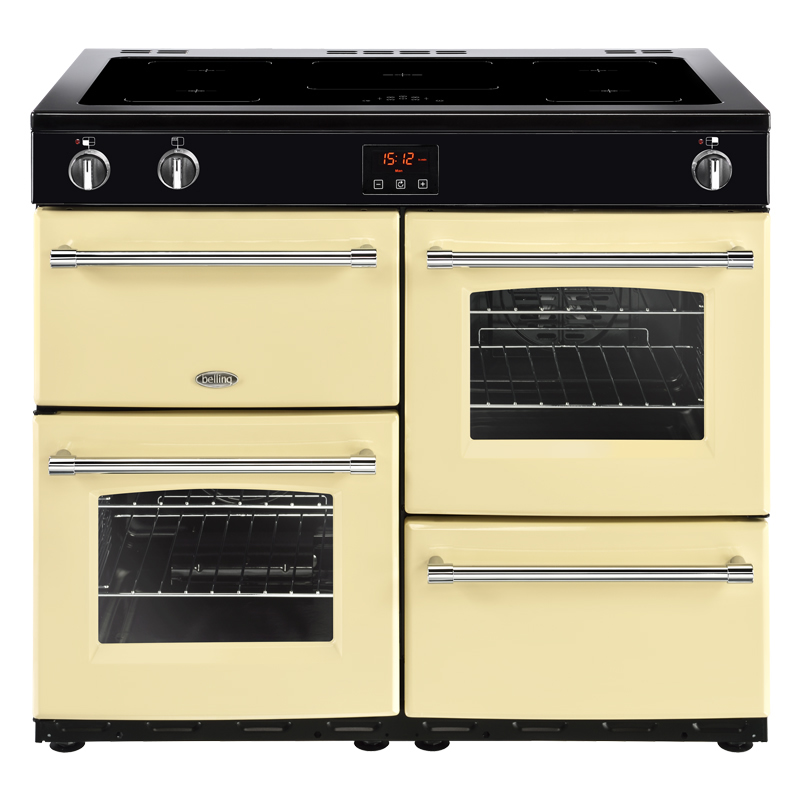 Compare retail prices of 1000mm Electric Range Cooker 5-Zone Induction Hob Cream to get the best deal online