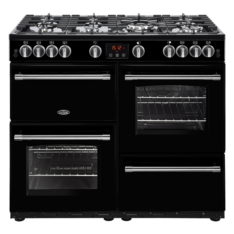 Compare retail prices of 1000mm Gas Range Cooker 7 Burners Inc. WOK Black to get the best deal online