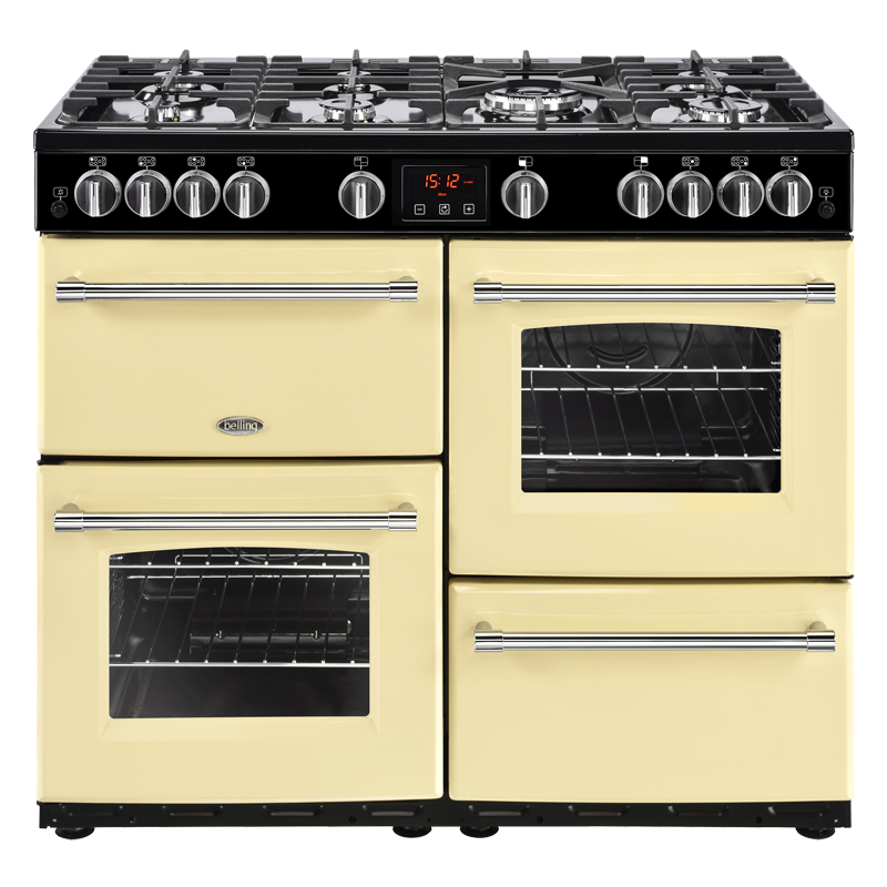 Compare retail prices of 1000mm Gas Range Cooker 7 Burners Inc. WOK Cream to get the best deal online