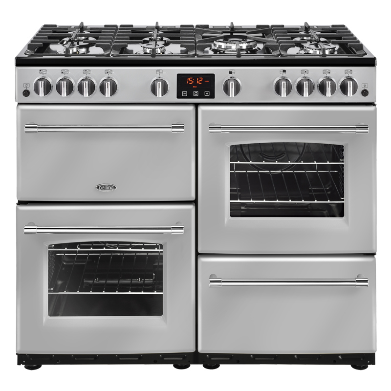Compare retail prices of 1000mm Gas Range Cooker 7 Burners Inc. WOK Silver to get the best deal online