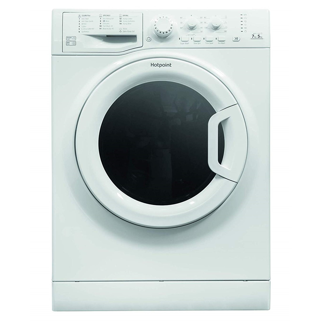 1400rpm Washer Dryer 7kg/5kg Load Class A Polar White