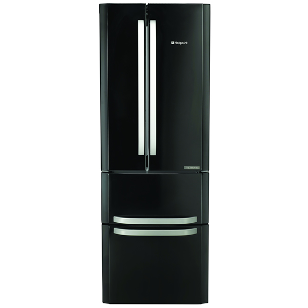 470litre 4-Door Fridge Freezer Class A+ Black