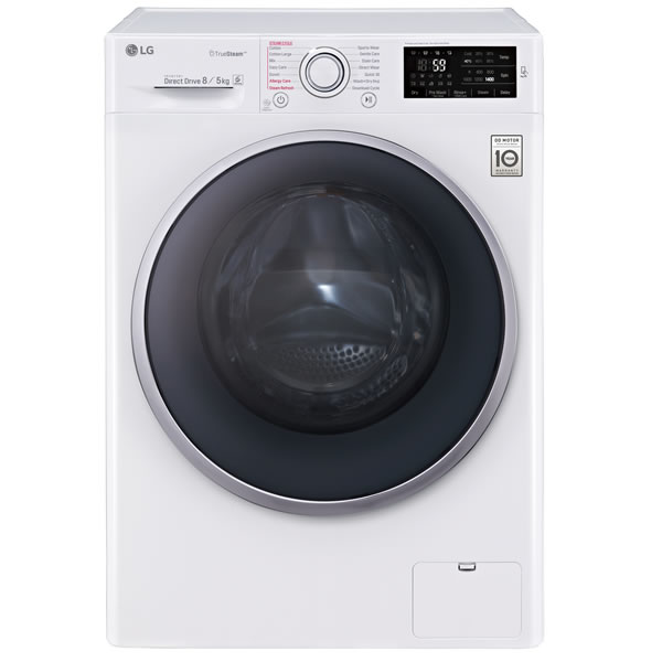 1400rpm DD Washer Dryer 8kg/5kg Steam Class A+++ White