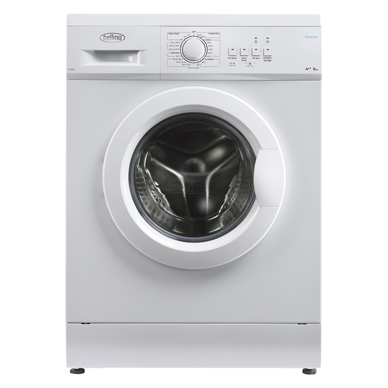 Image of 1200rpm Washing Machine 6kg Load Class A++ White