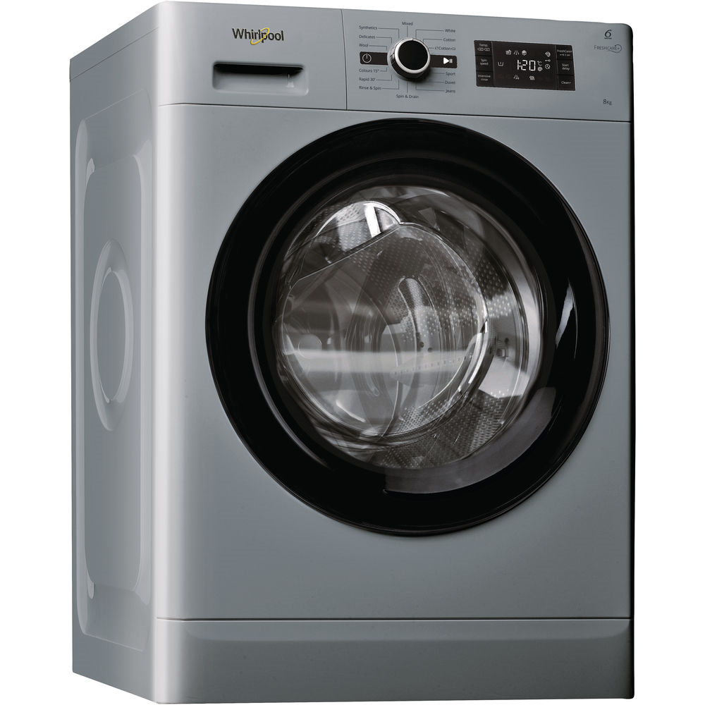 1400rpm Washing Machine 8kg Load Class A+++ Silver