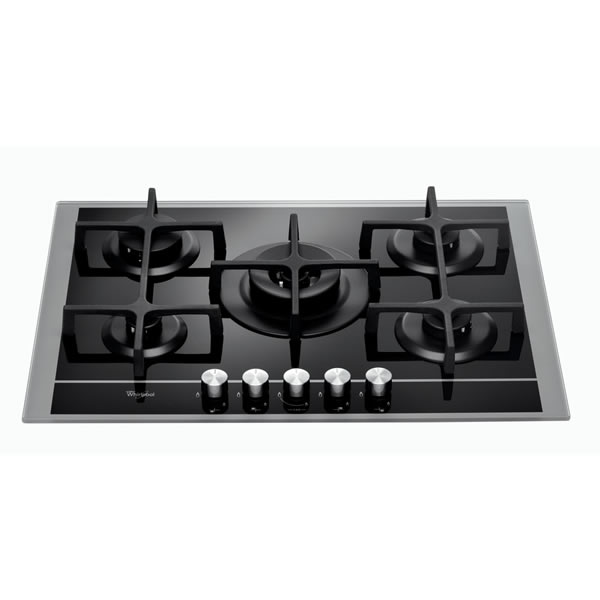 750mm Gas Hob 5 x Burners inc WOK SSteel