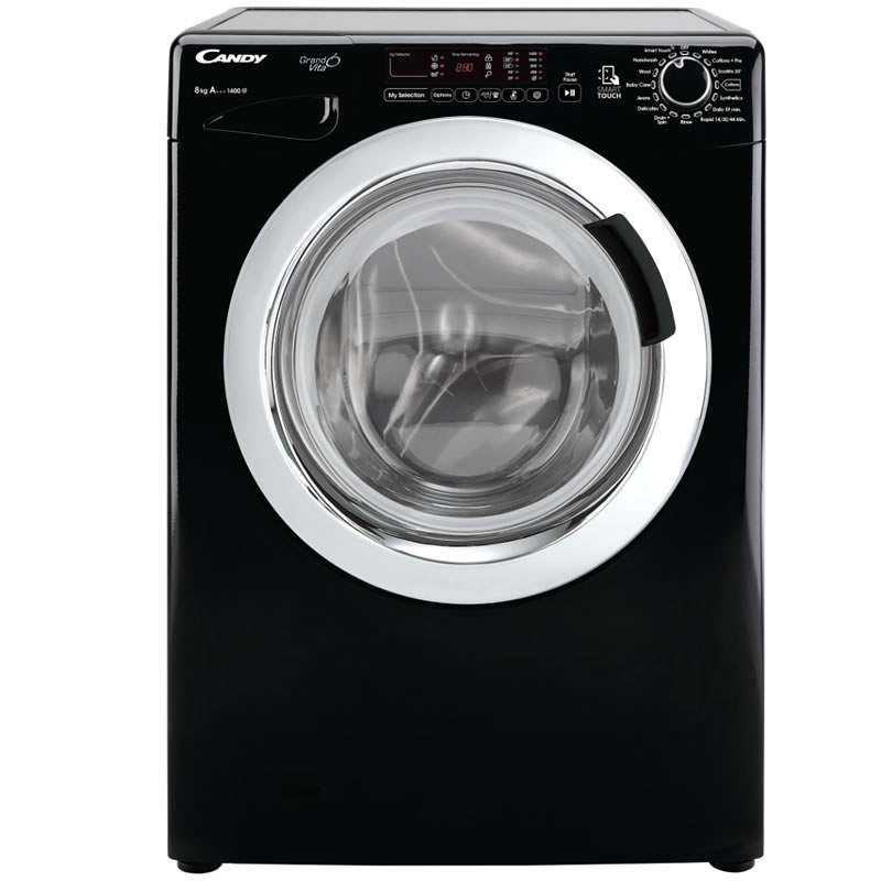 1400rpm Washing Machine 8kg Load Class A+ Black