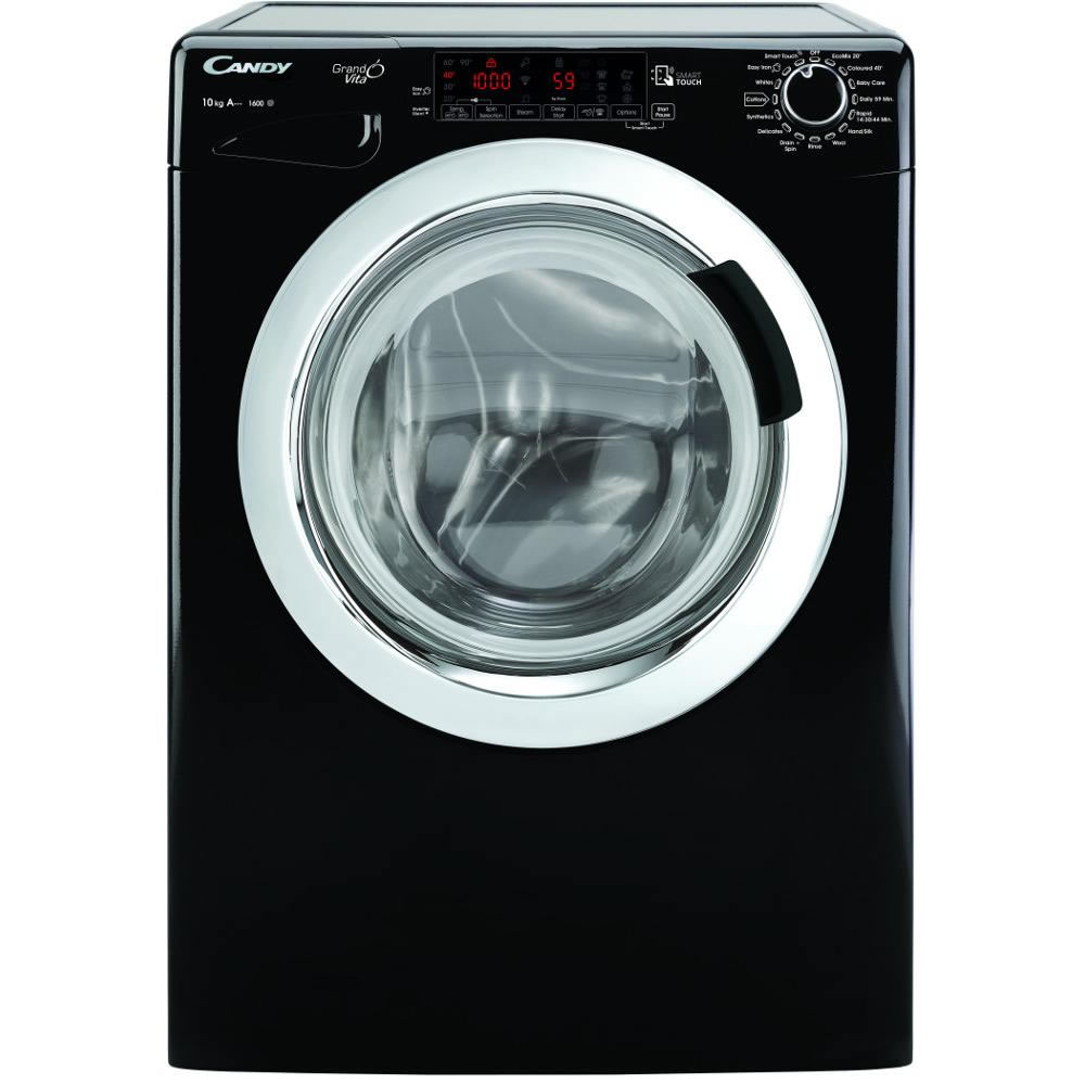 1600rpm Washing Machine 10kg Load Class A+++ Black