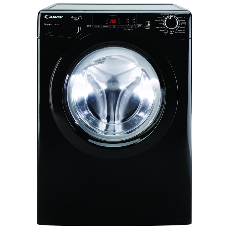 1400rpm Washing Machine 10kg Load Class A+++ Black