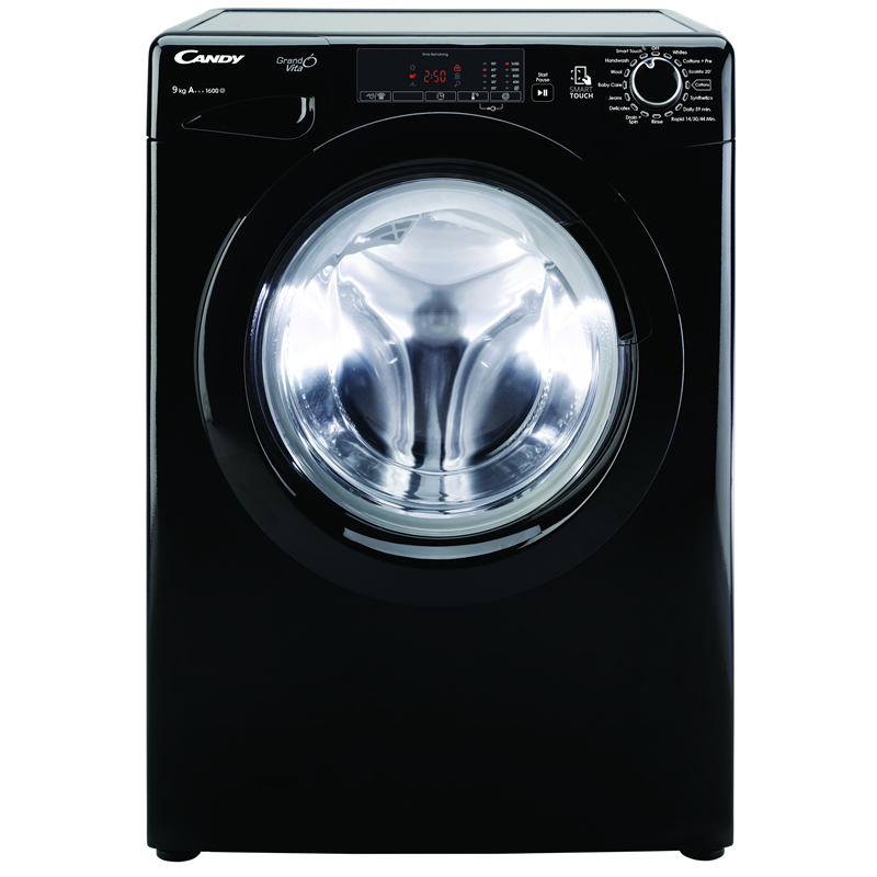 1600rpm Washing Machine 9kg Load Class A+++ Black