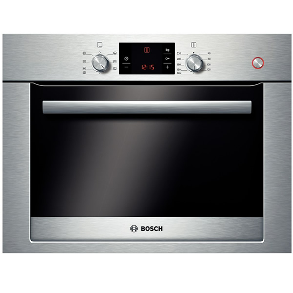 Compact Electronic Steam Oven 40 Auto Progs BSteel