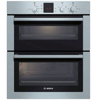 600mm Built-under Double Electric Oven LED Brushed St