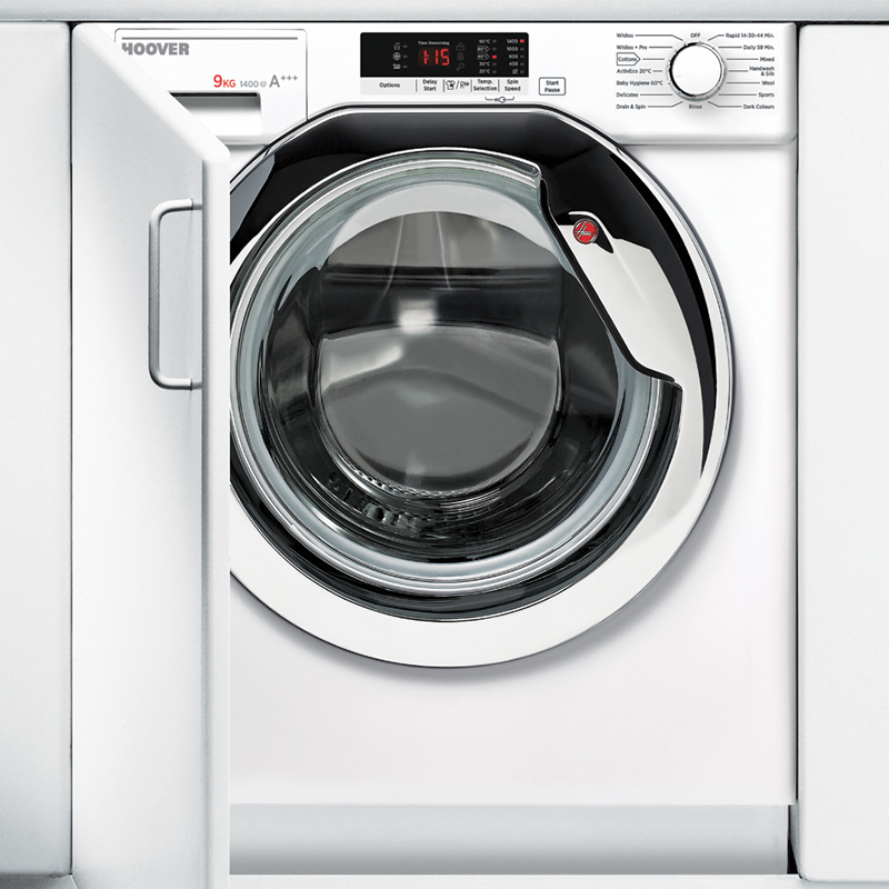 HOOVER HBWM914SC Integrated 9 kg 1400 Spin Washing Machine, Green