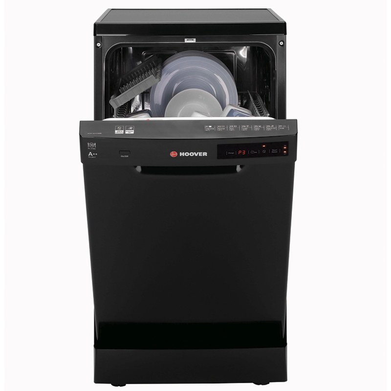 Image of 10-Place Slimline Dishwasher 7 Programs Class A++ Black
